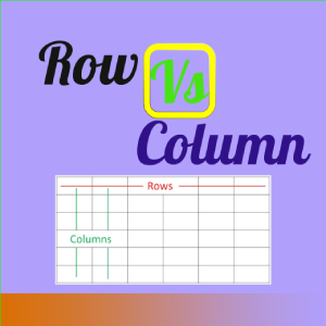 difference between columns and rows