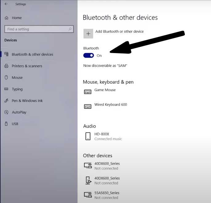 Connect Bluetooth Mouse