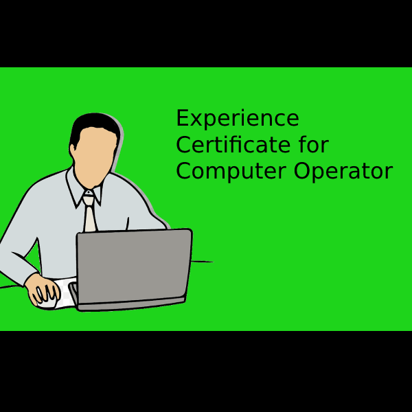 Experience Certificate for Computer Operator